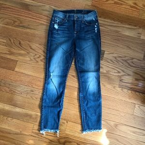 7 FOR ALL MANKIND   The Ankle Skinny Jeans Sz. 26